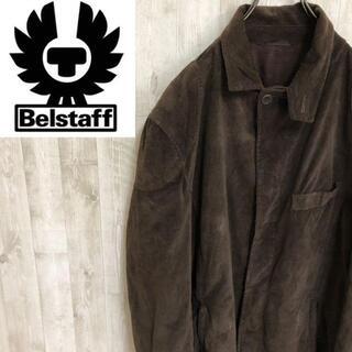 ベルスタッフ(BELSTAFF)のベルスタッフ フェイクスエードジャケット フルジップ コットン スナップボタン(その他)