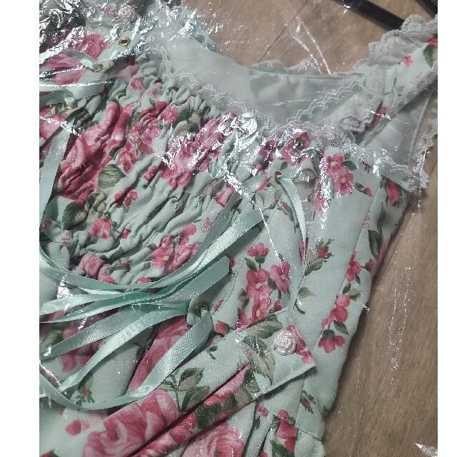 Angelic Pretty(アンジェリックプリティー)のdramaticrose JSK グリーン レディースのワンピース(ひざ丈ワンピース)の商品写真