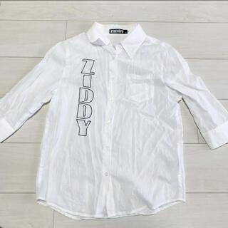 ジディー(ZIDDY)のジディ Ziddy 七分袖 薄手 ブラウス シャツ F(ジャケット/上着)