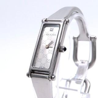 グッチ(Gucci)の【GUCCI】グッチ 時計 '1500L' ダイヤモンド GGロゴ柄 ☆美品☆(腕時計)
