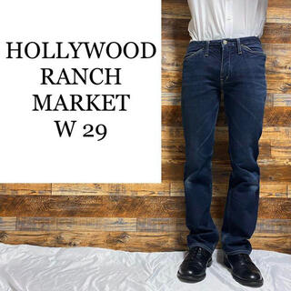 HOLLYWOOD RANCH MARKET - HRMハリウッドランチマーケット☆ストレートジーンズ メンズ古着 濃紺 w29