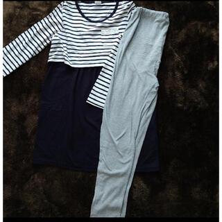 アカチャンホンポ(アカチャンホンポ)のマタニティ 授乳パジャマ上下セット M~L(マタニティパジャマ)