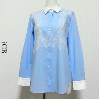 アイシービー(ICB)のiCB アイシービー フロントレースバイカラーシャツ(シャツ/ブラウス(長袖/七分))