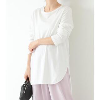 Demi-Luxe BEAMS - ATON ラウンドヘム ロングスリーブ Tシャツ