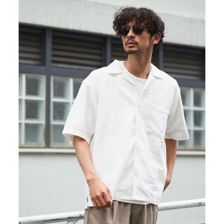 チャオパニックティピー(CIAOPANIC TYPY)のCIAOPANIC TYPY パナマ織オープンカラーシャツ ホワイト Sサイズ(シャツ)