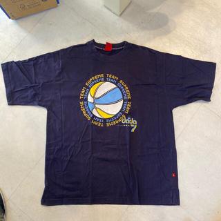 ダダ(DADA)の古着 Tシャツ DADA supreme  L ネイビー バックプリントあり(Tシャツ/カットソー(半袖/袖なし))