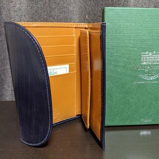 ホワイトハウスコックス(WHITEHOUSE COX)の【新品未使用品】ホワイトハウスコックス 三つ折り ネイビー✕ニュートン(折り財布)