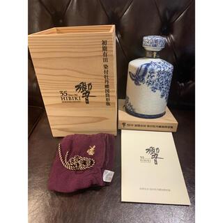 サントリー(サントリー)の1-2 和美様専用 響35年 初期有田焼 染付牡丹蝶図筒形瓶 ※700万円(ウイスキー)