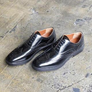 アダムエロぺ(Adam et Rope')のADAM ET ROPE ウォングチップ 黒38(ローファー/革靴)