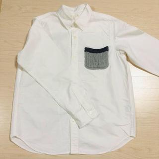 ジーユー(GU)のニットポケットシャツ(ブラウス)