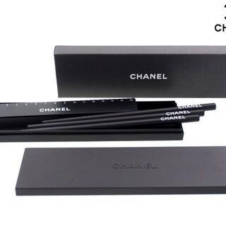 シャネル(CHANEL)の【新品】シャネル ノベルティ ペンケース 鉛筆3本 16cm定規 セット(ペンケース/筆箱)