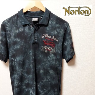ノートン(Norton)のNorton メンズ Mサイズ ノートン ポロ シャツ 半袖 刺繍 (ポロシャツ)