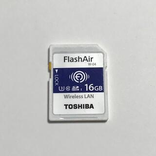 トウシバ(東芝)の東芝 無線LAN搭載SDメモリカード FlashAir W-04 16GB(PCパーツ)