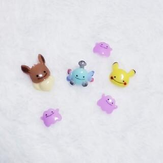ポケモン メタモン変身 3Dネイルパーツ 6個セット(デコパーツ)