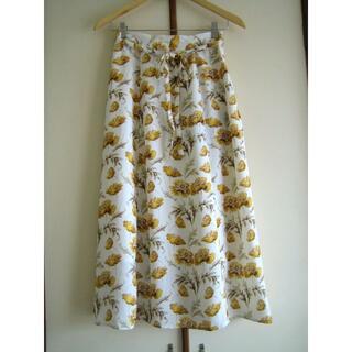 オペークドットクリップ(OPAQUE.CLIP)のOPAQUE.CLIP オペークドットクリップ 花柄スカート Mサイズ(ロングスカート)