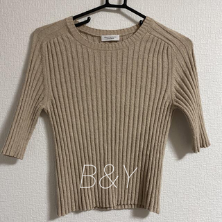 BEAUTY&YOUTH UNITED ARROWS - BEAUTY&YOUTH リブニット5分袖プルオーバー