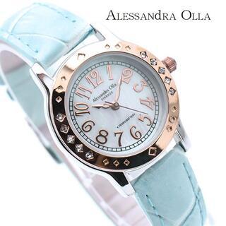 アレッサンドラオーラ(ALESSANdRA OLLA)のアレッサンドラ オーラ 腕時計 レディース シェル 文字盤 人気 ブランド(腕時計)