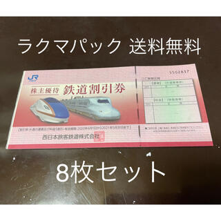 JR西日本 株主優待 鉄道割引券 8枚 送料無料(その他)
