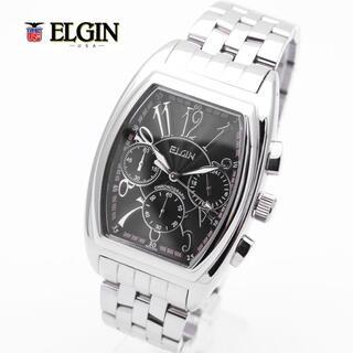 エルジン 腕時計 メンズ ELGIN クロノグラフ トノー型 ブランド 人気