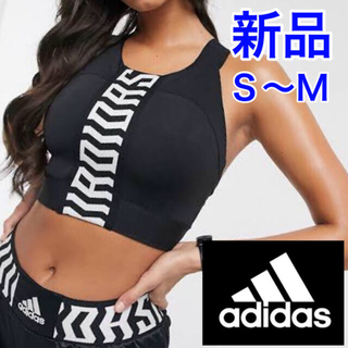 adidas - 新品!adidas クロップトップ 黒・Mサイズ