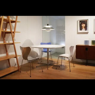 カッシーナ(Cassina)の希少 フリッツハンセン ダイニングテーブル ホワイト 北欧 ミッドセンチュリー(ダイニングテーブル)