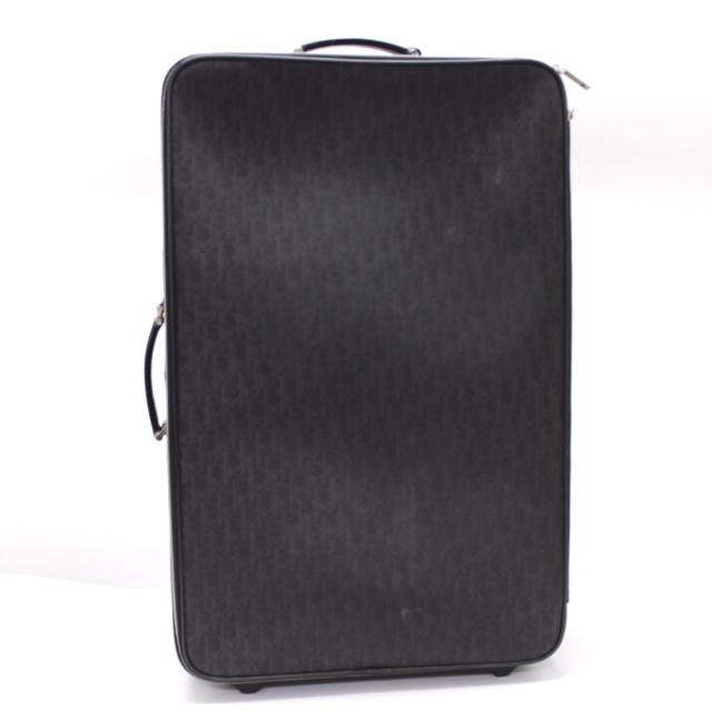 DIOR HOMME(ディオールオム)のディオール・オム トロッター 2輪 キャリーバッグ PVC ブラック レディースのバッグ(スーツケース/キャリーバッグ)の商品写真