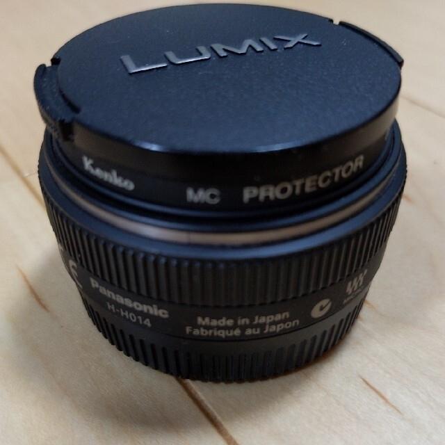 Panasonic(パナソニック)のパンケーキ単焦点★パナソニック LUMIX G 14mm F2.5 H-H014 スマホ/家電/カメラのカメラ(レンズ(単焦点))の商品写真
