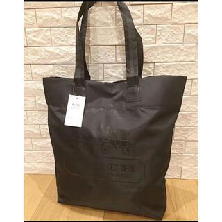 COACH - 新品未使用 コーチ エコバッグ 買い物袋 トートバッグ 黒(タグ付き)
