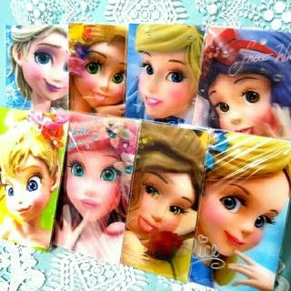 ディズニー(Disney)の【4】プリンセス♥️3Dポストカード(カード)