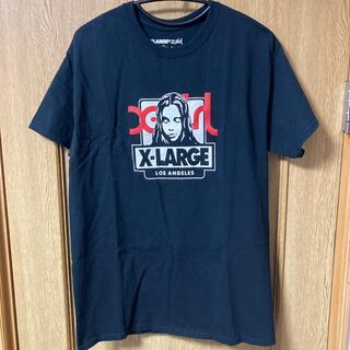XLARGE - X‐LARGE×X‐Girl WネームTシャツ ブラック M