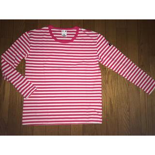 エックスガール(X-girl)の美品 x-girl エックスガール ボーダーカットソーロングスリーブTシャツ(Tシャツ(長袖/七分))