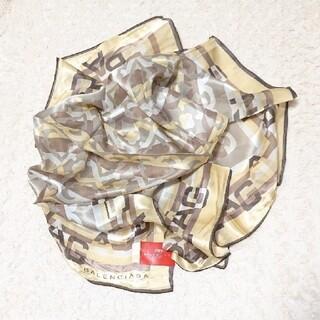 バレンシアガ(Balenciaga)の売約済《未使用》シルク100% BALENCIAGA 85㎝×85㎝ スカーフ(バンダナ/スカーフ)