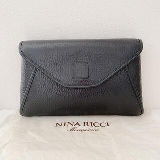 ニナリッチ(NINA RICCI)の美品 NINA RICCI   ニナリッチ セカンドバッグ クラッチバッグ 黒(クラッチバッグ)