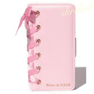 Maison de FLEUR - メゾンドフルール♡ブランドロゴレースアップマルチスマホケース♡多機種対応♡ピンク