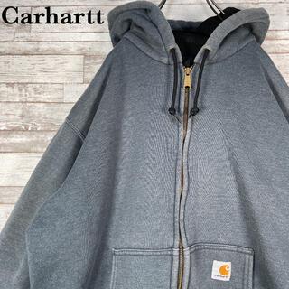 carhartt - 【古着】メキシコ製 カーハート ワンポイントロゴ フルジップ パーカー L