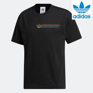 アディダス(adidas)の【新品】アディダスオリジナルス 半袖Tシャツ サイズO(XL)ブラック(Tシャツ/カットソー(半袖/袖なし))