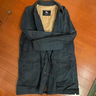 BURBERRY - バーバリー ステンカラー ハーフコート 紺色 Lサイズ