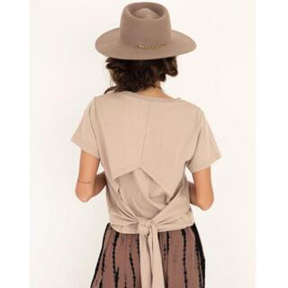 アリシアスタン(ALEXIA STAM)のALEXIASTAM★バックリボンTシャツ(Tシャツ(半袖/袖なし))