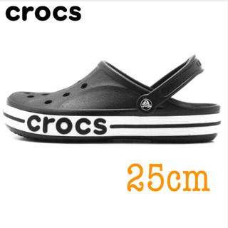 crocs - クロックス  25cm  バヤバンド ブラック/ホワイト
