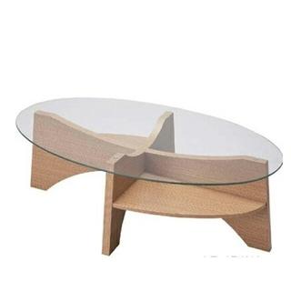 【美品】Franc franc ガラス天板  棚付きローテーブル (ローテーブル)