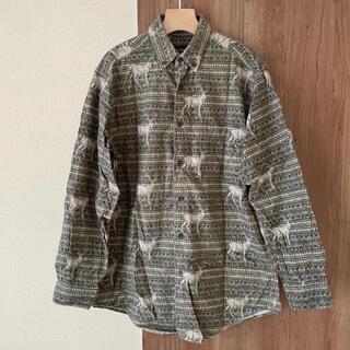 ウールリッチ(WOOLRICH)の古着 used woolrich ウールリッチ 総柄 長袖シャツ ヴィンテージ(シャツ)