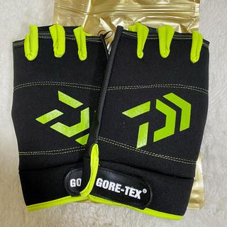 【新品】フィッシンググローブ  釣り用 手袋  5本カット 緑(ウエア)
