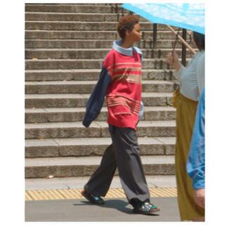 サカイ(sacai)のカラー ドッキングニット アシンメトリー 長袖シャツ(シャツ/ブラウス(長袖/七分))