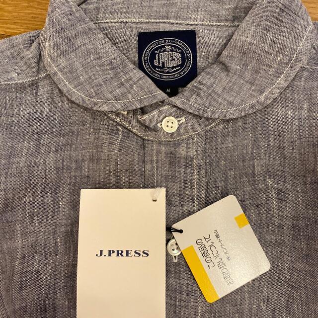 J.PRESS(ジェイプレス)のJ.press  麻100%シャツ M 新品未使用 メンズのトップス(シャツ)の商品写真