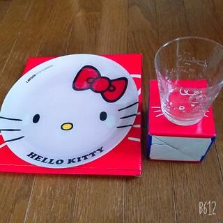ハローキティ - ハローキティお皿とグラスセット