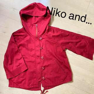 niko and... - 美品 Niko and… レッド薄手アウター  マンパ サイズ3