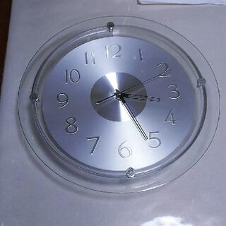ニトリ - 掛け時計☆ニトリ☆クォーツ時計☆シルバー☆シンプル☆