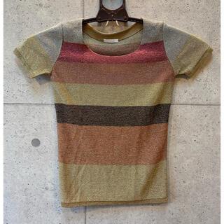 クロエ(Chloe)のChloe トップス ボーダー(Tシャツ(半袖/袖なし))