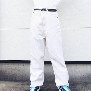 サマンサモスモス(SM2)のホワイトジーンズ(デニム/ジーンズ)