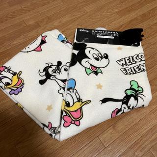 Disney - レトロミッキー コンパクトバスタオル